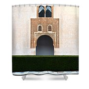 A Door On The Court Of The Myrtles Shower Curtain