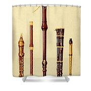 A Double Flageolet, A German Flute Shower Curtain