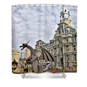 A Dragon In Philly Shower Curtain
