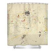 A Dream In Absinthe, 1890 Shower Curtain