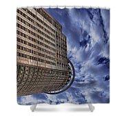 A Drifting Skyscraper Shower Curtain