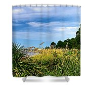 A Drive With A View Shower Curtain