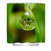 A Drop Of Water For Every Blade Of Grass Shower Curtain