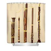 A Dulcian, An Oboe, A Bassoon Shower Curtain