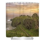 A Dunnottar Castle Sunrise - Scotland - Landscape Shower Curtain