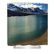 A Dusting On Glacier Shower Curtain