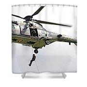 A Eurocopter As332 Super Puma Shower Curtain