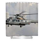 A Eurocopter As532 Cougar Of The Royal Shower Curtain