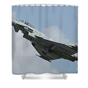 A Eurofighter Typhoon Of The Royal Air Shower Curtain