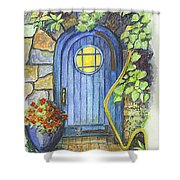 A Fairys Door Shower Curtain