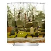 A Fall Gathering Of Crows Shower Curtain