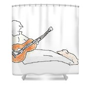 A Fan Shower Curtain