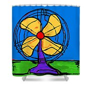 A Fan Of Color Shower Curtain