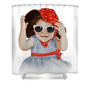 A Fashion Girl  Shower Curtain