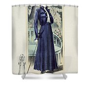 A Fashionable French Lady Shower Curtain