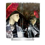 A Feather In Her Hat Shower Curtain