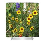 A Field Bouquet Shower Curtain
