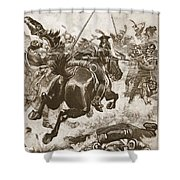 A Fierce Hand-to-hand Fight Ensued Shower Curtain