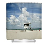 A Fine Day At The Beach Shower Curtain