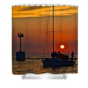 A Fine Days End Shower Curtain