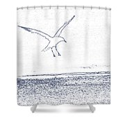 A Fine Flight Shower Curtain
