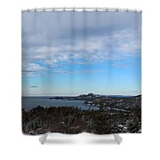 A Fine January Day On The Bay Shower Curtain