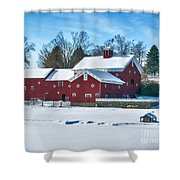 A Fine Winter Day Shower Curtain