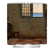 A Fisherman's Bedroom Shower Curtain