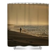 A Fisherman's Morning Shower Curtain