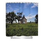A Flint Hills School Shower Curtain