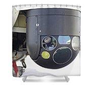 A Flir Camera Mounted On An Eh101 Shower Curtain