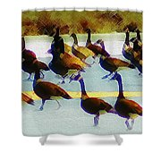 A Flock Of Geese Shower Curtain
