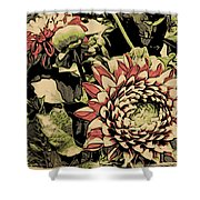 A Floral View Shower Curtain