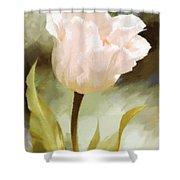 One Beautiful Flower Impressionism Shower Curtain