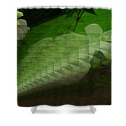A Flower Repeating Itself Shower Curtain