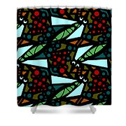 A Fly Of Sorts And Berries Shower Curtain