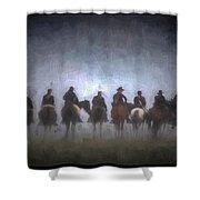 A Foggy Gettysburg Morning - Oil Shower Curtain