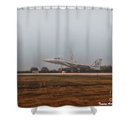 A Foggy Landing Shower Curtain