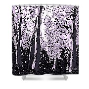 A Forest Silhouette Shower Curtain