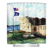 A Fort In Maine Shower Curtain
