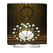 A Franklin Chandelier Shower Curtain