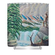 A Free Place Shower Curtain