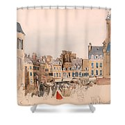 A French Market Place Shower Curtain
