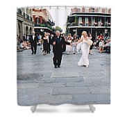 A French Quarter Wedding Shower Curtain