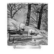 A Frigid Moment Shower Curtain