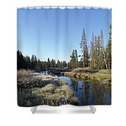 A Frosty Morning Along Obsidian Creek Shower Curtain