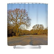 A Frosty Sunday Morning Shower Curtain