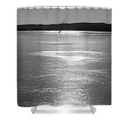 A Frozen Lake Shower Curtain