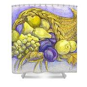 A Fruitful Horn Of Plenty Shower Curtain