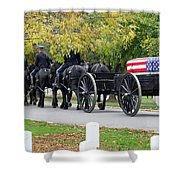 A Funeral In Arlington Shower Curtain